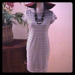 Sharagano Boat neck Nautical inspired dress